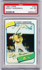 1980 Topps #482 Rickey Henderson Very Good - Excellent - PSA 4