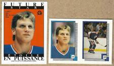 1988-89 OPC BRETT HULL Rookie Sticker Cards with MARIO LEMIEUX