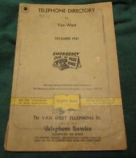 1961 Van Wert Ohio Phone Book Telephone Directory