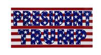 Wholesale Lot of 6 President Trump Stars & Stripes USA Red Bumper Sticker