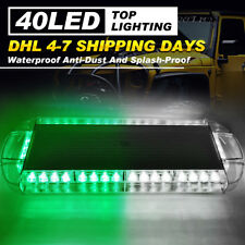 "22"" 40 LED Strobe Light Bar Hazard Emergency Warning Response Green White Lamp"