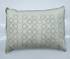 "Vera Wang Home Bamboo Leaves Circle Breakfast Throw Decor Pillow - Wheat 12""x16"""