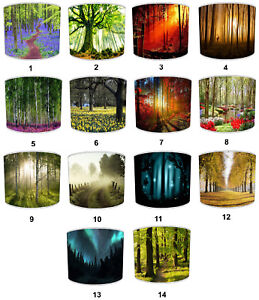 Countryside Woodland Forest Lampshades To Match Bedding Duvet Covers Curtains