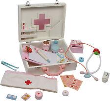 Kinder Arztkoffer mit Zubehör Holz Doktorkoffer Doktorset Spielzeug