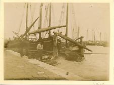 Italia, Venezia, Navi Vintage albumen print. Italy. Venice  Tirage albuminé