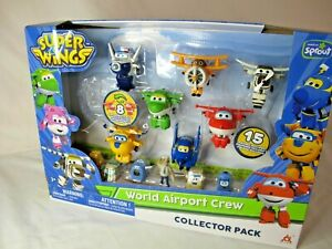 Super Wings World Airport Crew Collector Pack New! (Missing Purple one)