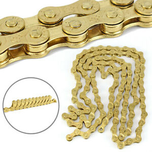 Cycling Bike Gold Chain For Road MTB Bicycle 1/2*3/32 8 Speed Replacement Parts
