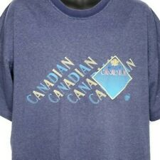 Molson Canadian Beer T Shirt Vintage 90s Breweriana Vaporwave Blue Size Large