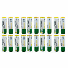 20 pcs AA 3000mAh Ni-MH 1.2V Rechargeable Battery Cell MP3 RC BTY Green US Stock