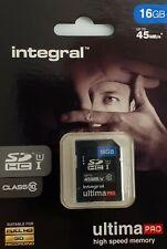 2 X INTEGRAL SD HC I 16 GB 45MBS ULTIMA PRO  U1