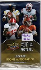 1-2013 UPPER DECK  FOOTBALL AUTOGRAPH HOT PACK 100% GUARANTEED & FACTORY SEALED