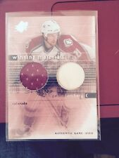 2000-01 SPX Winning Materials Peter Forsberg Game Used Jersey Stick Colorado