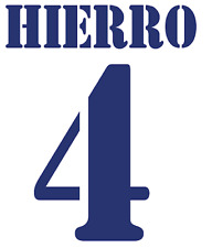 Real Madrid Hierro Nameset Shirt Soccer Number Letter Heat Print Football Home