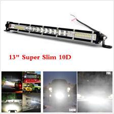 Slim 10D 13inch 200W LED Working Light Bar Spot &Flood Fog Lamp For Car Truck
