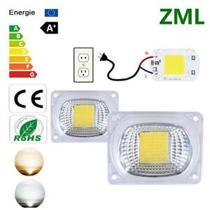 ZML 20W 30W 50W LED Smart Chip COB + Lens Reflector kit High Driver Floodlight