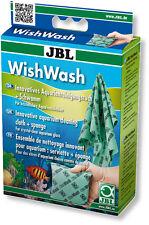JBL Wish Wash - Glass Cleaning Cloth & Sponge Set for Aquariums & Terrariums