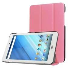 For Acer Iconia One 8 / B1-850 Horizontal 3-Folding Flip Leather Case - Pink