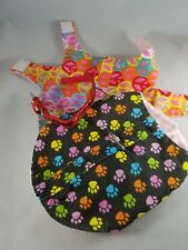 Puppy vest pink red orange green prance symbol with glitter red collar x smlused