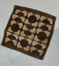 Orla Kiely brown Persimmon Print Face Cloth