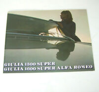 Prospekt / Broschüre Alfa Romeo Giulia 1300 Super / Giulia 1600 Super