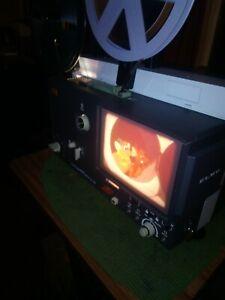 SUPER 8 MM ELMO-HI VISION SC18-M SOUND PROJECTOR. SPARE NEW BELTS AND LAMP! VGC.