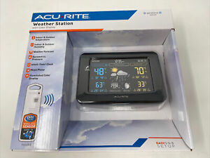 AcuRite 02027A1 Color Weather Station with High Low Temperature and Humidity ...