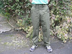British Army Lightweight Trousers Olive Green Zip Zipper Fly UK Military Surplus