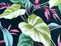 SALE! South Beach Caladiums Barkcloth Era Vintage Fabric Art Deco Tropical 30's