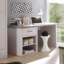 Schreibtisch Luca Jugendzimmer Bürotisch Pinie weiß Absetzung Trüffel