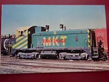 POSTCARD USA LOCOMOTIVE - M-K-T RAILROAD SW-1200 NO 6 AT DENNISON 1976 MISSOURI-