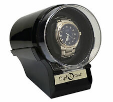Diplomat Watch Winder Diplomat Case Box Storage Timer  Automatic  glossy  Black