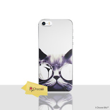 Funny Animals Case/Cover iPhone 5/5s/SE / Screen Protector / Gel / Cat Glasses
