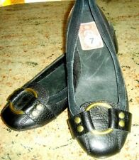 NEW LUCKY BRAND LEATHER WITH VELVET TRIM BLACK LOAFERS, SIZE 7