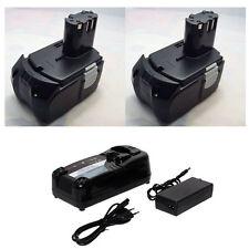 2 Battery For Hitachi 18V Li-ion 4.0Ah DS18DFL DS18DL WR18DL WH18DFL+charger