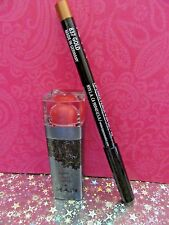 NYX LUXURIOUS BLACK LABEL LIPSTICK BLL120 VOLCANO  + LIP LINER #837 GOLD