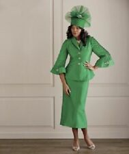 size 10 Mary Lu Green Skirt Suit Church wedding special event Ashro new