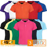 3 X BOY GIRL MODERN PIQUE KNIT INFANT BABY POLO SHIRT - SIZE 00,0,01 - 11 COLORS