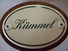 Kräuterschild Kräuterstecker Pflanzschild Emaille Emailschild Kümmel 25cm
