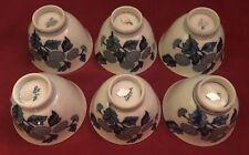 "Set Of 6 3.5"" Vintage Fine Japanese Imari Porcelain Rice Bowls c50s Lida's mark"