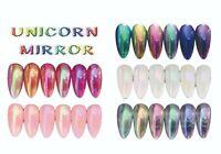 Aurora Rainbow Unicorn Mirror Duo Chrome Powder Super Shiny Nail Art Gel Acrylic