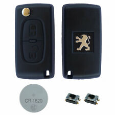 Peugeot DIY Repair Kit – 2 Button Remote Car Key Fob Case with HU83 Flip Blade