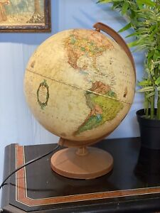 Vintage Ricoglobus Light Up World Globe Lamp
