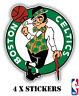 BOSTON CELTICS * NBA BASKETBALL Team Logo 4 x STICKERS * 6.7cm x 5.6cm * NEW *3