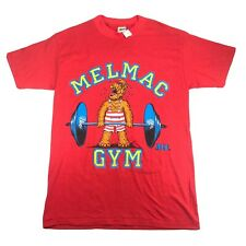 ALF Mens L Melmac Gym Instructor Vintage Red T Shirt Alien Products 1988 NEW NWT