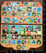 JAKE AND THE NEVER LAND PIRATES BY DISNEY, 2 SHEETS BEAUTIFUL STICKERS, #ISLA06