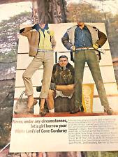 levi strauss white cone corduroy jeans advert playboy usa magazine advert 60s