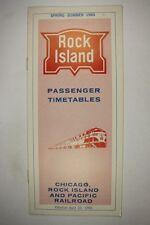 Railroad Public Timetable Rock island RI April 25, 1965 Train RR PTT
