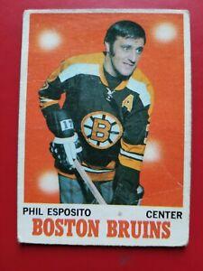 1970-71 OPC O-pee-chee #11 Phil Esposito Boston Bruins