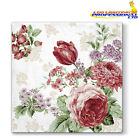 20 Paper Lunch Napkins MYSTERIOUS ROSES Serviettes Pink Tulip Flowers 3ply