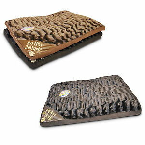 50cm x 70cm WASHABLE PET DOG CAT BED BLACK BROWN MATTRESS SOFT WARM FLEECE FUR